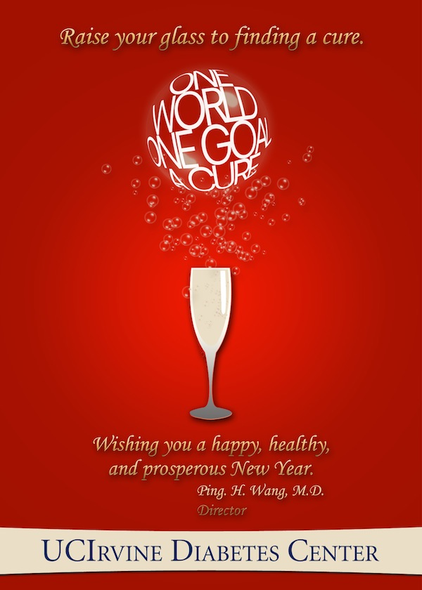 holiday card design for uci diabetes center 2011