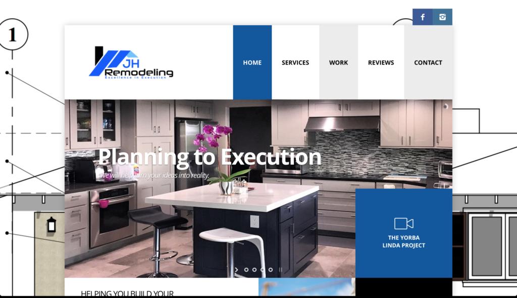 JH Remodeling Website Design
