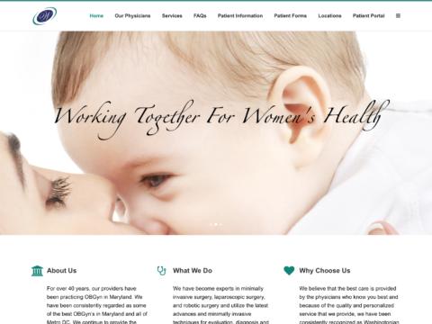 Gynecology Website Design