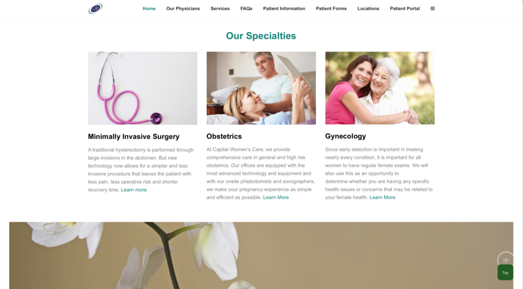 Gynecology Website Design | Orange County CA